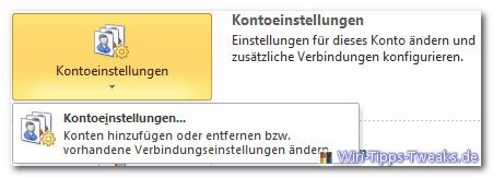 Kontoeinstellungen Outlook 2010