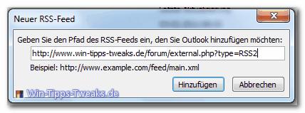 Neuer RSS-Feed