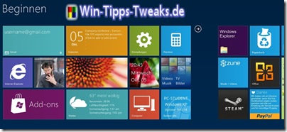 Windows 8 Look für XP, Vista und Windows 7