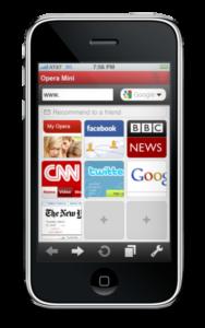 Opera auf dem iPhone