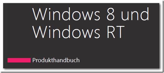Windows 8 Produkthandbuch