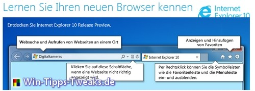 Der neue Internet Explorer 10 Preview