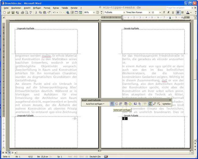 Word mehrseitige Hefte mit Mittelheftung und Faltung drucken | XP ...