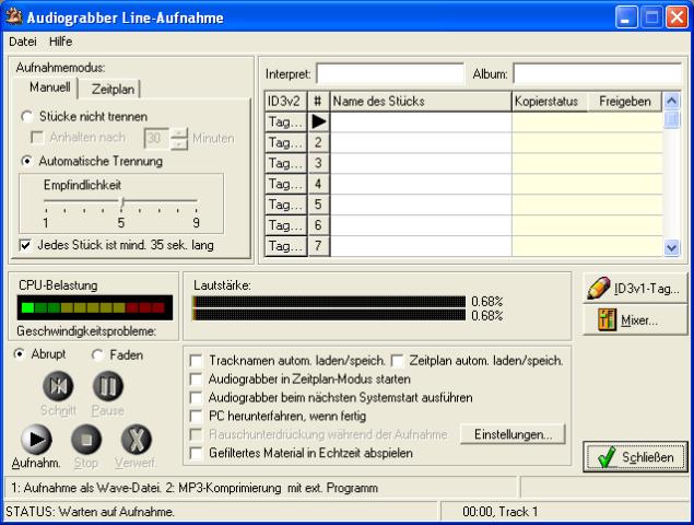 audiograbber lame plugin