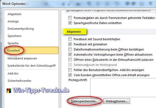 Office 2010 Vorlagen Speicherort Allgemein Office Tipps