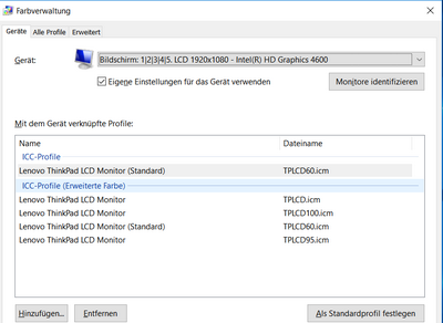 Windows 10 Farbprofilen für einen Monitor einrichten ...