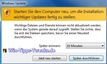 windows 7 auf windows 10 update deaktivieren